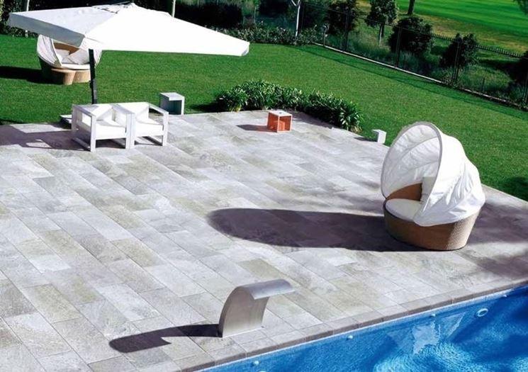 Giardino senza cemento cool gallery of pavimento da giardino with